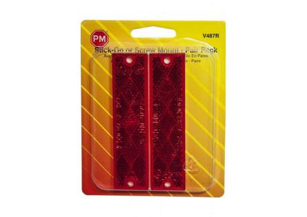 Réflecteur rectangulaire rouge
